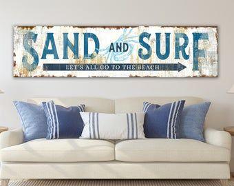 Coastal Wall Art Set Etsy Chic Beach House Beach House Living Room Beach House Signs