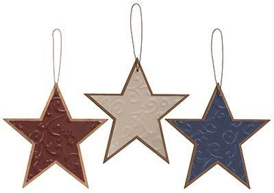Rustic Metal Mini Star Ornaments
