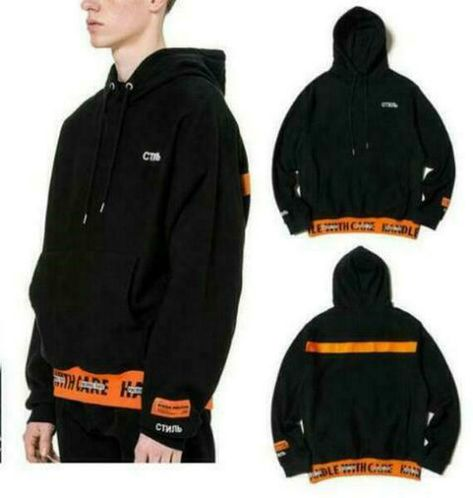 a2f6521a8c TIDE MEN HERON PRESTON 18FW Embroidered lace seiki hoodie  fashion   clothing  shoes