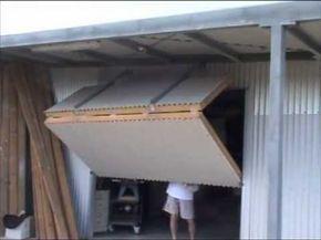 New Overlap Silvelox The First Sectional Garage Door Without Ceiling Tracks Youtube Garage Doors Bifold Doors Door Plan