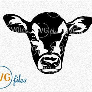 Cow Vector Cow with bandana Svg Cow Face Svg Dairy Cow Svg Cow Svg File Cows Svg Cow Silhouette,Cow Face,Instant Download Cow Clipart