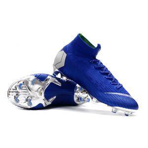 Nike Mercurial Superfly 6 Elite Fg 2018 2019 Blue Silver