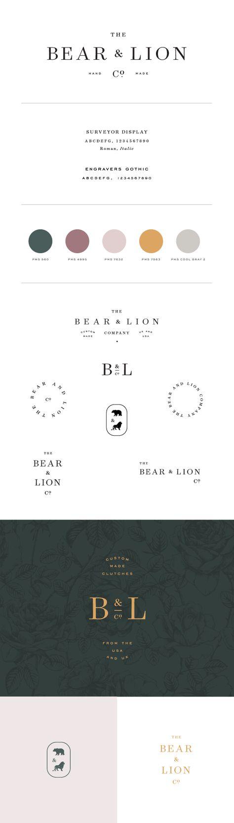 The Bear & Lion Co. branding by Saturday Studio