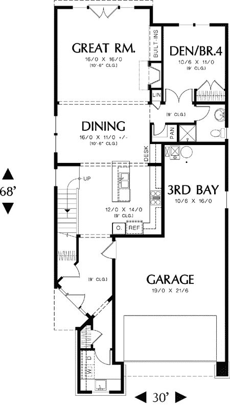 30 ft wide house plans