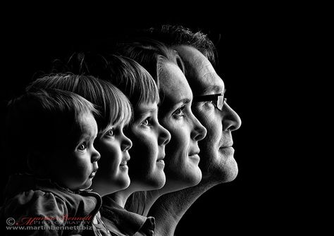 I had the idea to do this with a 4 generations picture a long time ago.  This is awesome for a family shot too.