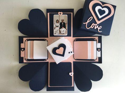 Love Explosion Box / Love Exploding Box / Surprise exploding   Etsy