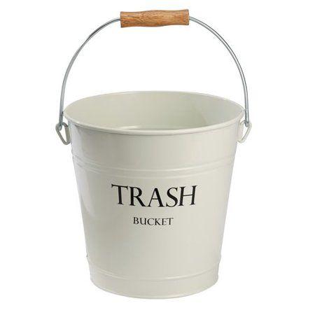 Interdesign Pail Wastecan Bucket Walmart Com Waste Basket Vintage Laundry Interdesign
