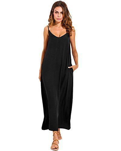 FeelinGirl - Vestido - Trapecio - para Mujer Schwarzblau-Kurz XX-Large  (42 44 EU)   Vestidos mujer in 2019 6c847f667c