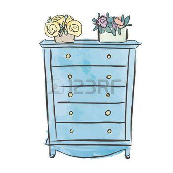 armoire dessin Table de chevet classique ateliers Pinterest