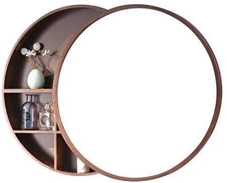 Amazonde Runder Spiegel Badezimmer Spiegelschrank Schiebe