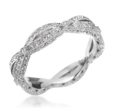 Tacori - Crescent Silhouette Collection Platinum 0.61ctw Diamond Eternity Band (Available at Michael C. Fina)