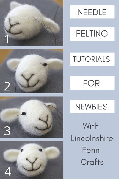Needle Felting Tutorials, Needle Felting Kits, Needle Felted Animals, Felt Animals, Simple Embroidery Designs, Embroidery Flowers Pattern, Embroidery For Beginners, Knitting For Beginners, Start Knitting