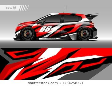 Vehicle Graphic Livery Design Vector Abstract Stripe Racing Background Designs For Wrap Race Car Pickup Truk Rally Adventure Vehicl Race Cars Racing Car