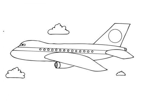 Mewarnai Gambar Pesawat Terbang Gambar Warna