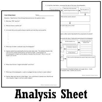 Classifying Matter Activity Mixtures Worksheet Forensic Science Matter Activities Classifying Matter Text Dependent Questions Worksheet classification of matter