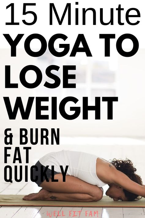 I'm sure you are aware of the benefits of yoga on your flexibility and posture but are you aware that yoga can also help you lose weight and burn fat quickly? This yoga routine to lose weight has all bases covered! It will raise your heart rate a Yoga Bewegungen, Yoga Flow, Pilates Yoga, Pilates Reformer, Vinyasa Yoga, Yoga Fitness, Fitness Wear, Fitness Women, Yoga Inspiration