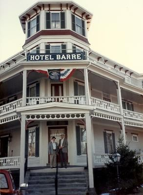 View Of Fire Damage To The Back Hotel There Was Once A Historic Called Barre It On Town Square In Machus
