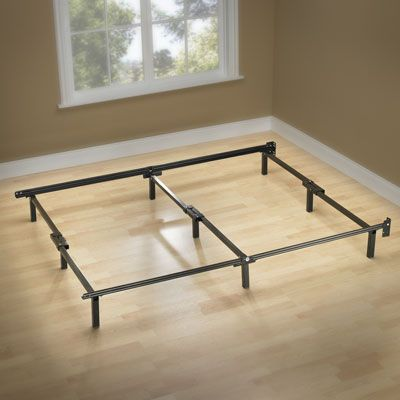 Zinus Compack Adjustable Bed Frame Double To King Steel Bed