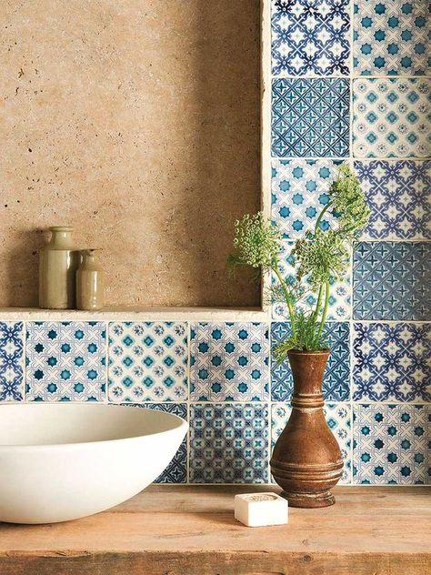 Convierte tu #baño en un balneario #lavabo #azulejo