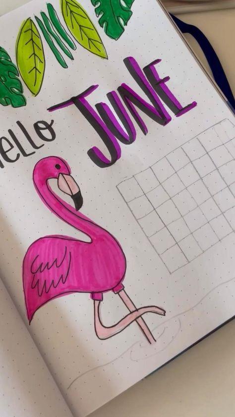 June Bullet Journal  Cover