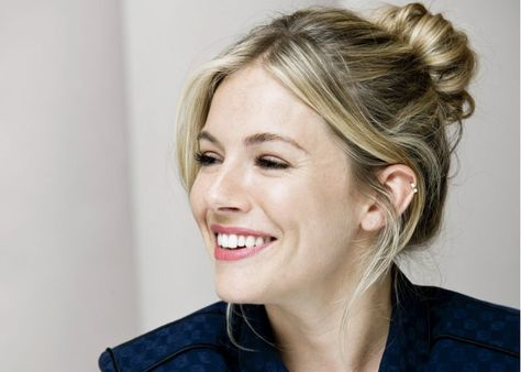 Sienna Miller.  I would wear my hair like this everyday if it looked like that
