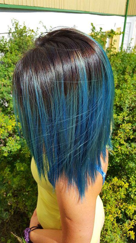 Bob Graue Haare Blau Haarfarben Ombre Haare Farben Haare