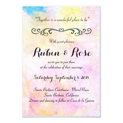 Wedding Invitation Zazzle Com Simple Wedding Invitations