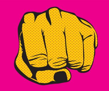 Pop art fist