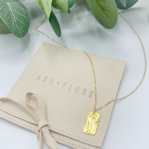 WILDFLOWERS -  Minimalist + Dainty Gold Vermeil Pendant Necklace