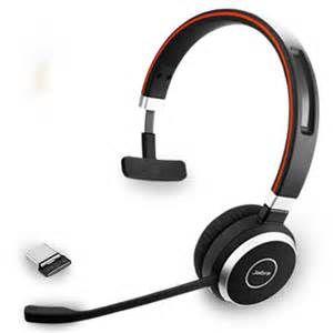 Jabra Evolve 65 Uc Mono Headsets Wireless Headset Headset In Ear Headphones