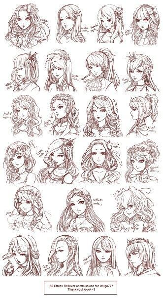 Hairstyles Anime Girls In 2020 Anime Drawings Drawings Manga Drawing