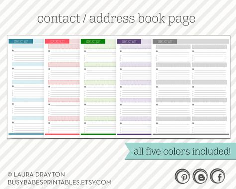 Printable Address Book Template Word Thefreedl Best Photos