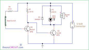 Door Open Alarm Circuit Circuit Alarm Door Opener