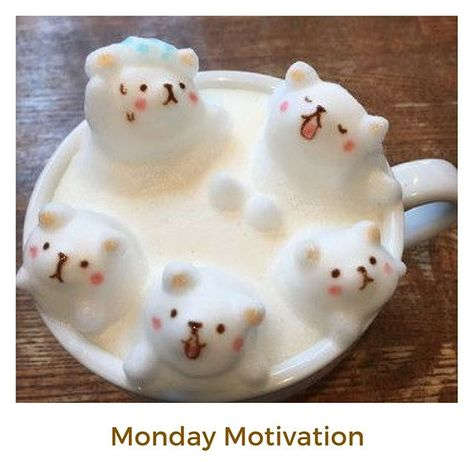 It looks like a puppy hot tub party.  Another coffee that's just too cute to drink.  Some people are very talented! #mondaymotivation #coffeeart #latteart #coffee #kawaii #kawaiianimals