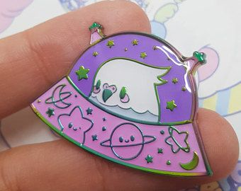 Soft Enamel PASTEL Commander Birb Rainbow Metal Enamel Pin