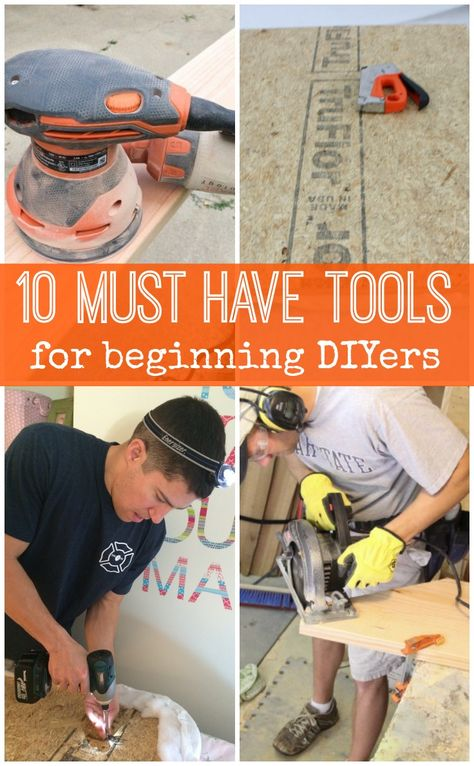 Must-Have Tools for Beginning DIYers -- if you want to start sawing, drilling, and DIYing a beautiful home, this is where to start your tool collection! #spon #remodelaholic #diy
