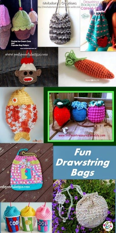 Posh Pooch Designs Dog Clothes: Tuesday Treasury - Drawstring Bag Crochet Patterns