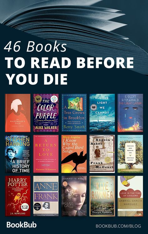 books everyone should read books to read before you die