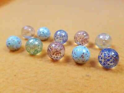 Details About 10 Glitter Marbles