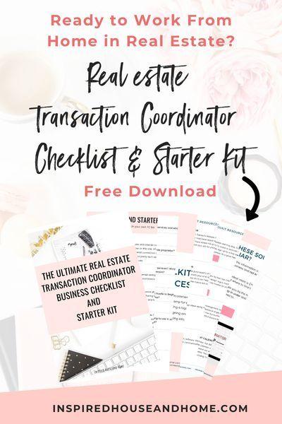Real Estate Transaction Coordinator Checklist Transaction Coordinator Work From Home Careers Virtual Assistant Jobs