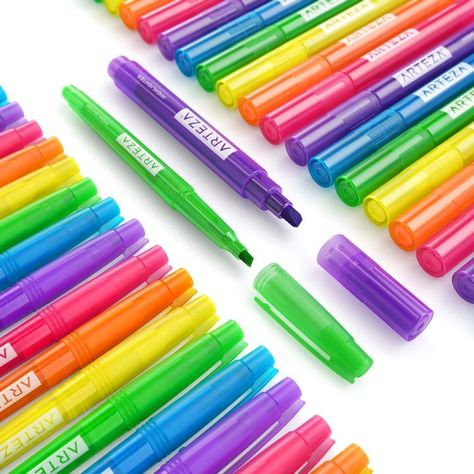 6pc Jumbo Permanent Double Tipped Ended Markers Pens Stationery School Office
