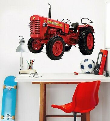 Details About 3d Red Tractor Head P61 Car Wallpaper Mural Poster