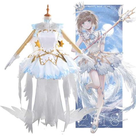 Novelty & Special Use 2019 New Style Card Captor Sakura Kinomoto Star Cane Clear Card Cosplay Magic Wand Wing Stick Accessorie Props