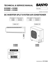 Sanyo CH3682 Air Conditioner Service Manual