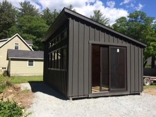 12 X20 Custom Board And Batten Lean To Shed Delivered To Williamstown Shed Man Inc In 2020 Shed Lean To Pool Shed