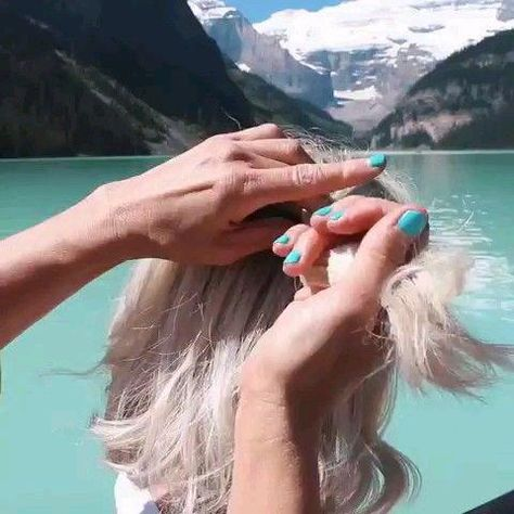 Beautiful braid hairstyle for short hair DIY Tutorial #hairmakeup