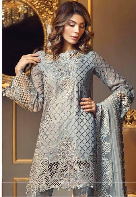 4788ecb41e Asian Chiffon Dresses - Asian Pakistani Designer Chiffon Dress by Anaya  Online at Nameera by Farooq