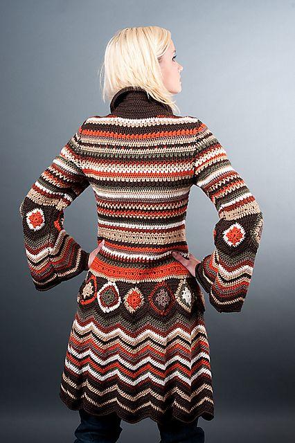 Crochet cardi Missoni Inspiration pattern by Fashion Martina