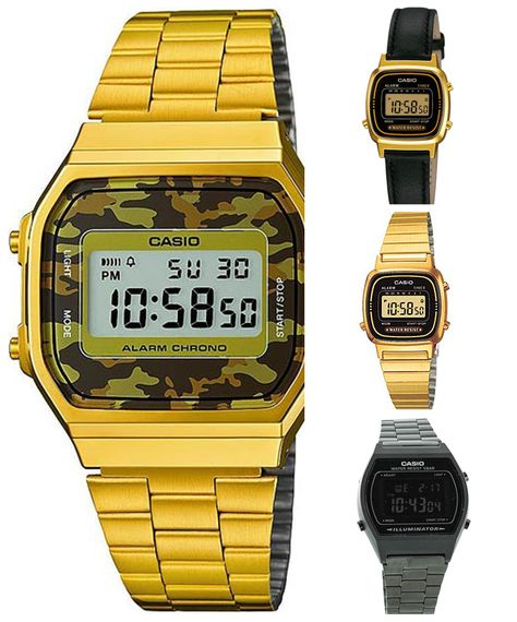 78b62905a The classic Casio Digital watches in lots of different colors and designs.  Black, silver, gold, camo - you name it, we got it.