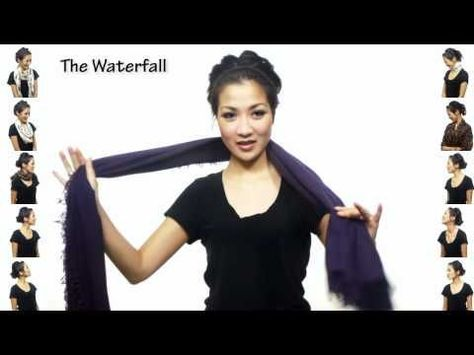So I am SO mesmerized by this 25 ways to wear a scarf video- I can't decide which I like more- the 25 ways to wear a scarf or the slow motion part of the video- TOO COOL!!